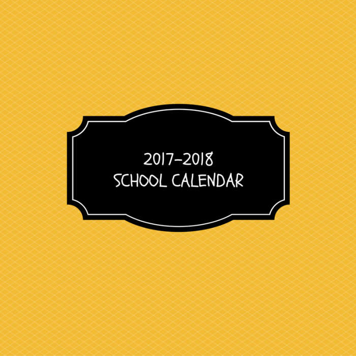 School Calendar approved for 2017-2018