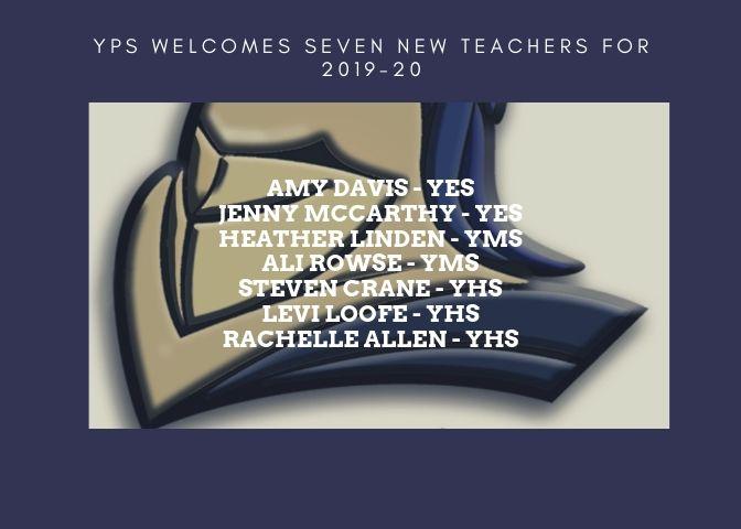 YPS Welcomes New Teachers